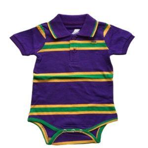 Mardi Gras Inf Purple Bodysuit